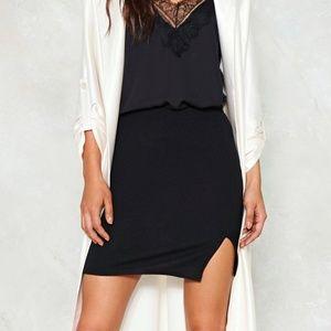 Nasty Gal NWT Breakthrough Black Mini Skirt